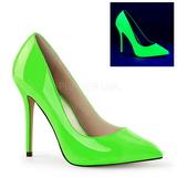 Zelený Neon 13 cm AMUSE-20 Lodičky Dámské Stiletto Podpatků