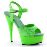 Zelený Neon 15 cm Pleaser DELIGHT-609UVG Platformě Vysoké Podpatky