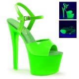 Zelený Neon 18 cm Pleaser SKY-309UV Platformě Vysoké Podpatky