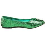Zelený STAR-16G třpyt dámské baleríny obuv