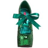 Zelený Třpyt 14,5 cm Burlesque TEEZE-10G Platform Lodičky Dámské