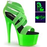 Zelený neon 18 cm Pleaser ADORE-769UV Boty na podpatku pro tanec na tyči