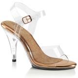 Zlato 10 cm CARESS-408 sandály na vysokém podpatku