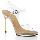 Zlato 11,5 cm CHIC-08 sandály s jehlovým podpatkem