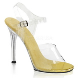 Zlato 11,5 cm FABULICIOUS GALA-08 Večerní sandály s podpatkem