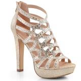 Zlato 11,5 cm Pleaser SELENE-24 Sandály na vysokém podpatku
