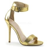 Zlato 13 cm AMUSE-10 Muži botách na vysokém podpatku
