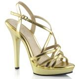 Zlato 13 cm Fabulicious LIP-113 sandály na vysokém podpatku
