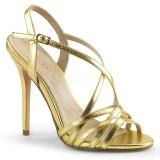 Zlato 13 cm Pleaser AMUSE-13 dámské sandály na podpatku