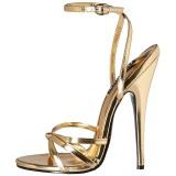 Zlato 15 cm DOMINA-108 fetiš boty na podpatku