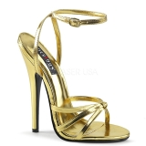Zlato 15 cm Devious DOMINA-108 sandály na vysokém podpatku