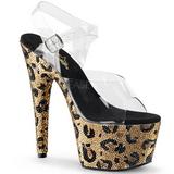 Zlato 18 cm BEJEWELED-708LP Třpytivé Kamínky dámské boty na vysokém podpatku