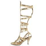 Zlato 9 cm GODDESS-12 dámské sandály gladiátorky