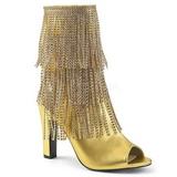 Zlato Koženka 10 cm QUEEN-100 velké velikosti kotníkové kozačky dámské