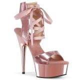Zlato Koženka 15 cm DELIGHT-600-14 pleaser sandály na platformě