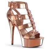 Zlato Koženka 15 cm DELIGHT-658 pleaser boty na vysoké podpatky
