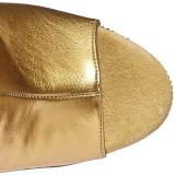 Zlato Koženka 18 cm BEJRSF-7 kozačky s třásněmi na podpatku