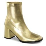 Zlato Koženka 7,5 cm GOGO-150 kotnikové kozačky na tlustém podpatku