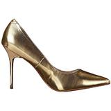 Zlato Matná 10 cm CLASSIQUE-20 Lodičky Dámské Stiletto Podpatků
