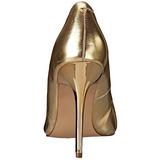 Zlato Matná 10 cm CLASSIQUE-20 Lodičky na jehlovém podpatku