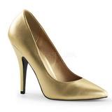 Zlato Matná 13 cm SEDUCE-420 Lodičky pro muže