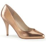 Zlato Růžové 10 cm VANITY-420 lodičky na vysoké podpatky