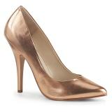 Zlato Růžové 13 cm SEDUCE-420 lodičky na vysoké podpatky
