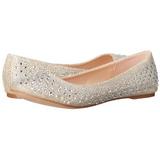 Zlato TREAT-06 křištálový kámen dámské baleríny obuv