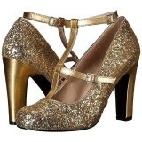 Zlato Třpyt 10 cm QUEEN-01 velké velikosti lodičky obuv