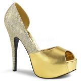 Zlato Třpyt 14,5 cm Burlesque TEEZE-41W lodičky širokou nohu pro muže