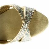 Zlato Třpyt 16,5 cm Pleaser ECLIPSE-619G Stilettos Jehlové Podpatky
