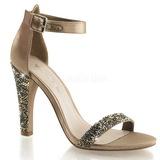 Zlato kamínky 11,5 cm CLEARLY-436 Večerní Sandály s podpatkem