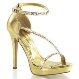 Zlato kamínky 12 cm LUMINA-26 Večerní Sandály s podpatkem