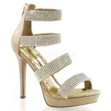 Zlato kamínky 12 cm LUMINA-30 Večerní Sandály s podpatkem