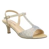 Zlato kamínky 6,5 cm AUDREY-05 Večerní Sandály s podpatkem