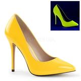 Žlutá Neon 13 cm AMUSE-20 Lodičky Dámské Stiletto Podpatků