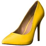Žlutá Neon 13 cm AMUSE-20 Lodičky na jehlovém podpatku