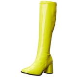 Žlutá Neon 8,5 cm FUNTASMA GOGO-300UV Kozačky Dámské