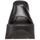 Černá 13,5 cm DYNAMITE-01 Platformě Gotické Žabky Dámské