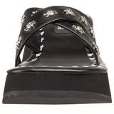 Černá 6,5 cm FLIP-05 Platformě Gotické Žabky Dámské