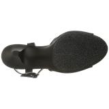 Černá Matná 8 cm BELLE-309 Dámské Sandály Podpatky