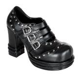 Černý 10 cm VAMPIRE-08 platformě gotické boty