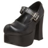 Černý 11,5 cm CHARADE-05 platformě gothic boty