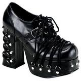 Černý 11,5 cm CHARADE-35 platformě gothic boty