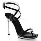 Černý 11,5 cm CHIC-05 Platformě Sandály Podpatky