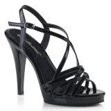 Černý 11,5 cm FLAIR-413 Fabulicious Sandály Podpatky