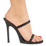 Černý 11,5 cm Fabulicious GALA-02 Pantofle Vysoké Podpatky