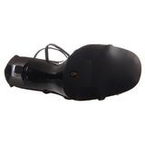 Černý 11,5 cm GALA-41 Platformě Sandály Podpatky
