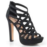 Černý 11,5 cm Pleaser SELENE-24 Sandály na vysokém podpatku