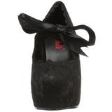 Černý 13 cm DEMON-11 platformě gotické boty